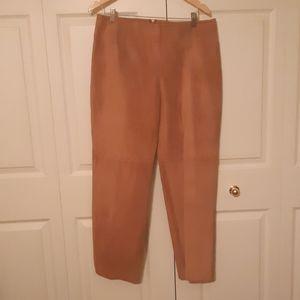 DANIER suede brown ladies pants with details